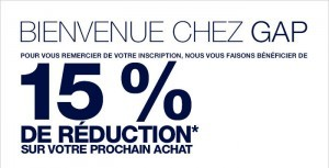 bon de reduction gap