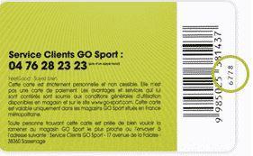 carte fidélité go sport Go Sport Carte de fidélité FeelGood   Carte de fidélité