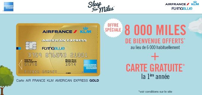 Flying Blue 8000 Miles Offerts Grace A American Express Et Fidall Carte De Fidelite